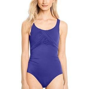 Lands' End One Piece Swimsuit Tummy Control
